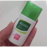 アクネスニキビ予防薬用UVティントミルク手に持ったサイズ感